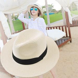 Stingy Breim Hats Женская Широкая Соломенная Панама Свернуть Шляпу Fedora Beach Sun UPF50 +