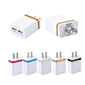 Universal Travel Charger 2.1A Wall Charger US Plug Dual USB 2 Port AC Power Adapter for Samsung huawei