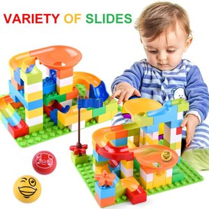 Slide Blocks Figures Maze Building Compatible Track Accessories Brands Bricks Pcs Run 55 Balls Funnel 76 Marble Race With OiNlD ly_bags