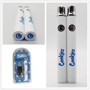 Biscoitos Vape Battery 350mAh Pré-aqueça Bateria ajustável Variable Voltage 510 Baterias embalagem vaporizador Vape Pens