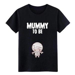 Männer Mama zum zu T-Shirt-Druck Halloween-Schwangerschafts-Mitteilung Baumwolle S-XXXL Formal Sonnenlicht Comical Frühling Freizeit-Hemd Seien