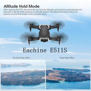 E511S 2.4G 4CH GPS 6 axes gyro dynamique Suivre WIFI FPV Avec 1080P Caméra 16mins temps de vol RC Hélicoptères Quadcopter