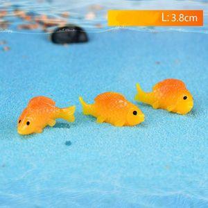 Goldfish Miniature Cute Fish Craft White Gold Fishbowl Waterscape Fairy Garden Accessory Micro-landscape Aquarium Decoration DH