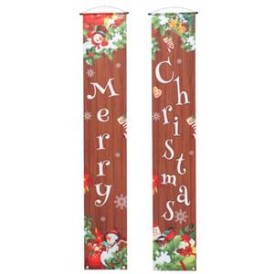 1 пара Рождества двери Баннер Дверь Подвесной занавес Главная Магазин Кафе Декор