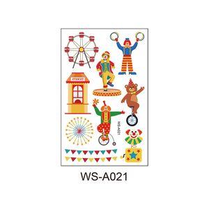 QualityTemporary татуировка наклейка для мальчиков Детского Birthday Party Водонепроницаемой Circus Clown для вечеринок Дети партии выступает