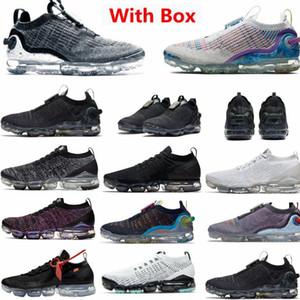 Yeni Sürüm Vapourmax 2020 FK 2020 Örgü Koşu Ayakkabıları Kolay Kaza Saf Platin Maxs Erkek Eğitmenler Kadın Luxe Spor Sneakers