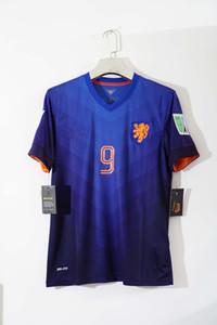 Free shipping 2014 robben #11 v.persie #9 vintage socccer jersey