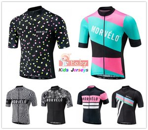 2020 Morvelo Summer Short Sleeve Cycling Jersey Tops Boys Road Racing Bike Clothing MTB Bicycle Clothes Kids Motocross Jerseys