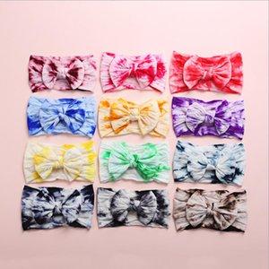 INS populaire Tie Dye Accessoires cheveux bébé Bow bandeau fille élégantes boucles pour les cheveux Accessoires Multi Choix