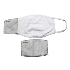 STOCK espacios en blanco sublimación de la mascarilla del adultos de los niños con filtro de bolsillo puede poner máscara de algodón PM 2.5 Junta de Polvo Prevención 3D para la transferencia de bricolaje Imprimir