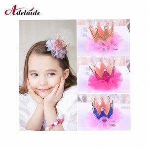 Bébé Accessoires cheveux Enfants Kidds fille dentelle perle Princesse Couronne clip cadeau décoration Hairpin accessoires pour le costume cosplay s #