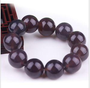 Factory direct sale chalcedony emperor purple men and women ice type bracelet jade jade purple agate bracelet
