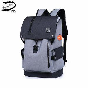 Fengdong liceo zaino borse scuola impermeabile per i ragazzi grandi usb zaino borsa di anti furto uomini borse da viaggio zainetto regalo del ragazzo 200919