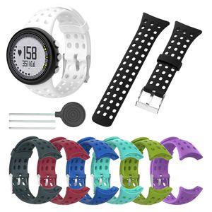 1 Pz sostituzione del silicone Watch Band Strap Bracciale per Suunto M1 M2 M4 M5 M Serie universale cinturino Con Installazione degli strumenti LXH