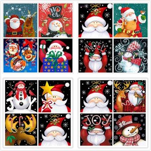 5D Full Square Diamond Painting 30*30CM Embroidery Santa Claus 3D DIY Drill Drawing Mosaic For Christmas Gift Free Shippping