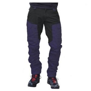 Pantaloni Moda Color Matching Locomotiva Casual Zipper pantaloni del progettista dei pantaloni del maschio Slim Outdoor Sports Man Multi-tasca cargo
