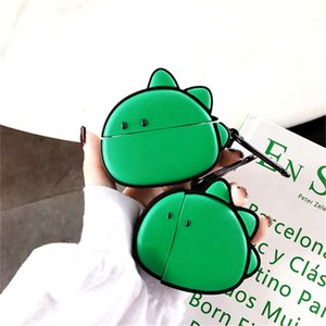 3D cute lovely cartoon Alligator dinosaur for apple airpods case airpod pro 2 3 earphone charger box protective cover Headphone accessories
