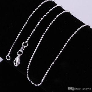 """cgjxs Cgjxs 10pcs / Lot 925 Catene Sterling Silver branello della sfera delle catene della collana dei monili 16 -30 """";"""