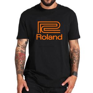 Roland Klavye Synthesizer Gitar Instruments Black_White Grafik Tee Gömlek Erkek Yuvarlak Yaka Kısa Kollu Pamuk Tişört
