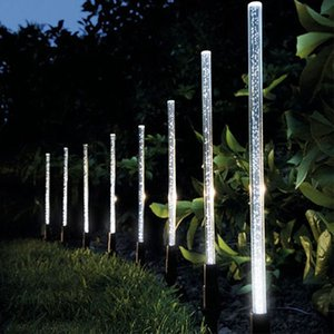 Solar Power Tube Освещение Лампа Акриловых Bubble Тропинка лужайка ландшафт украшение сад Стики Разбивка света лампа Set