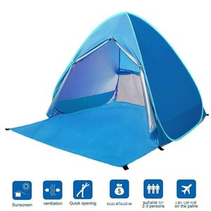 Portable Beach Tent UV Protection up Camping Tent Sun Shelter for Outoors for 1-2 people