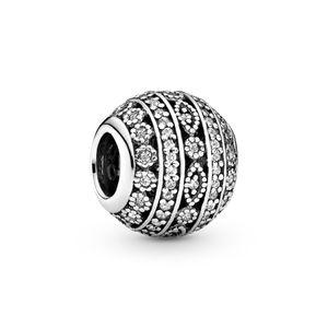 2020 Nuevos ALE Auténtico 925 encantos del patrón de plata esterlina geométricas pulseras estilo Pandora cabidas los granos de bricolaje joyas de moda Making Diseño