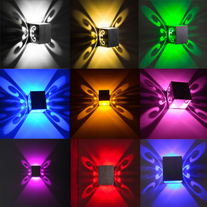 85-265V 3W Modern LED Butterfly Wall Lamp Luces Home Loft Bedside Sconce Lamps Night Lighting Lamparas Club KTV Decoration Light