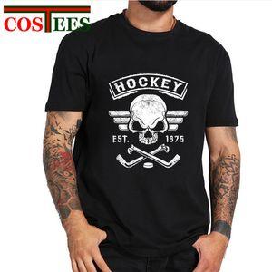2019 Vintage Canada Hockey SkullBone дизайна майка мужчин лучший подарок для hockeyplayer команды Tops вентиляторов тройников ретро fintness футболочки