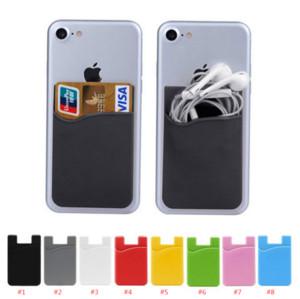 Telefon Kartı Tutucu, smartphone Most ile Silikon Yapıştırıcı Çubuk-on Kimlik Kredi Kartı Cüzdan Telefon Kasa Kılıfı Sleeve Pocket Uyumlu