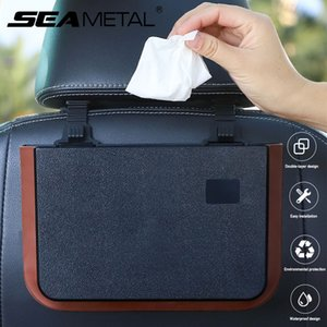 Car Storage Pockets Waterproof Car Seat Back Storage Bags Universal Hanging Trash Can Interior Stowing Tidying Accessories