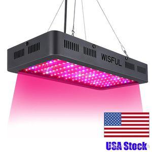 Full Spectrum 1000W 1200W 1500W Watt Double Chip LED Grow Lights square LED Grow Light for hydroponics plant growing lights