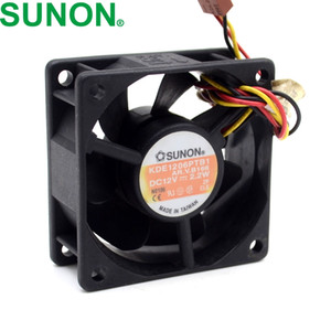 60 * 60 * 25MM10pcs For SUNON 6025 2.2W KDE1206PTB1 60mm 12V 3 wire alarm cooling fan