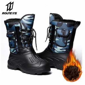 Motorcycle Boots Autumn Winter Men Motorcycle Boot Thermal Motorbike Shoes Fleece Liner Warm Moto Riding Boots Plush Warm l57Q#