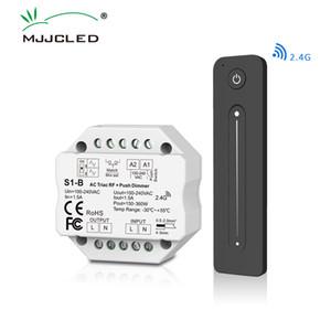 AC Triac Dimmer 220V 230V 110V LED Lamp Push PWM Dimmer Switch 2.4G Wireless RF Touch Remote Control S1-B Dimer 220V