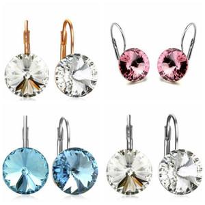 Kristal Küpe Elmas Alaşım takılar Moda Kristal Bırak Küpe Kadınlar Hediyeler takılar Güzel Kristal Kulak Yüzük Takı DHF580