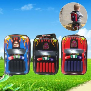 New style fashion street children waterproof 3D Cool Boy Backpack Schoolbags Kids Hands Out Door Snack Candy Toy Storage 2-6l years