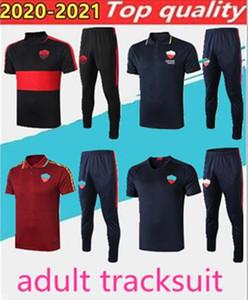 2020.2021 polo di polo De Rossi Dzeko Zaniolo ROM Totti Perotti Jersey 2020 polo romano gel, set di abbigliamento sportivo adulto