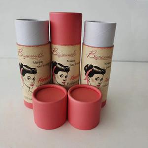 1000pcs / lot Fabricación Eco amigable tubo de embalaje de papel de impresión personalizada de diseño extensión de tubo de regalo de embalaje de pelo