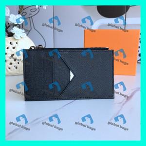 أكياس د esigner الموضة النسائية الأصلي بطاقة سوداء من الجلد ID حامل بطاقة حامل متعددة بت بطاقة الهوية الجلود