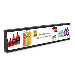 45 inch Edge Long Strip Screen Ad Media Player Stretched Bar Digital Signage Supermarket Shelf Lcd Display size 1074x395mm