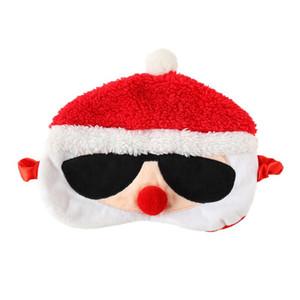Маска для взрослых Ткани глаз Санта-Клаус Сон завязанного Плюшевых мультфильм олень Рождество завязанной Личность Забавного глаз Shade