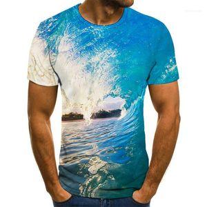 À manches courtes encolure ras du cou respirant T-shirts personnalité créative Hommes d'été Hauts Imprimer 3D Designer Mens T-shirt décontracté
