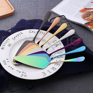 Colorful Stainless Steel Cake Shovel With Serrated Edge Server Blade Cutter Pie Pizza Shovel Cake Spatula Baking Tools RRA3568