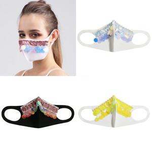 Женщины Девушки Необычные Магия Защитная маска для лица Ночной клуб Показать Блестки Cosplay Party DesignerFace маска # 449