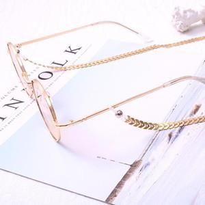 Mode Femmes Or Argent Couleur Chaînes de lunettes de soleil Collier de perles Lunettes chaîne Eyewears cordon Holder courroie de cou Corde