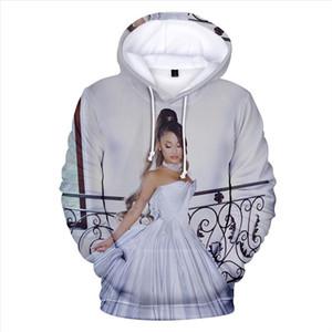 2020 nuovo 3D Ariana Grande Grazie U prossimo Hoodies Felpa Donna Donna Uomo Casual 3D Ariana Grande Felpe Felpe XXS 4XL