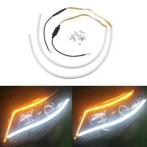 For 206 207 208 301 306 308 406 407 408 3008 508 607 2008 4007 Car Flowing DRL Running Turn Signal lamp LED Headlight