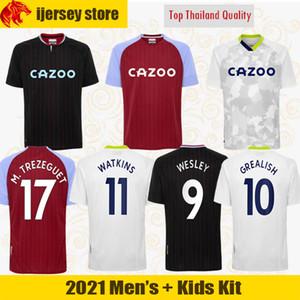 2020 아스톤 빌라 축구 유니폼 WATKINS (20) (21) 웨슬리 GREALISH 축구 셔츠 EL GHAZI HOURIHANE M.TREZEGUET 맥긴 저지