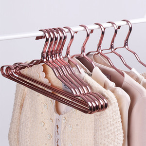 Wholesale Household Anti-skid Clothes Hangers Space Aluminum Waterproof Rust-proof Rack No Trace Clothing Hangers Perchas