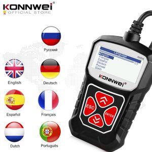 Konnwei OBD2 Escáner para Auto OBD 2 Escáner de automóvil Herramienta de diagnóstico Escáner Automotriz Herramientas de automóvil KW310 para coche ELM327